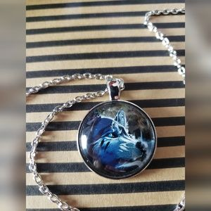 NEW Wolf Cabochon Necklace